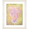 "<strong>Studio Works Modern</strong> ""Yellow Dansing Bud - Rose"" by Zhee Singer Framed Fine Art Giclee Print"