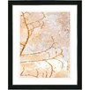 "Studio Works Modern ""Filigree Flower Branches - Orange"" by Zhee Singer Framed Fine Art Giclee Painting Print"
