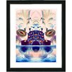 "Studio Works Modern ""Cut Crystal Fruit - Blue"" by Mia Singer Framed Fine Art Giclee Painting Print"
