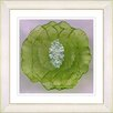 "Studio Works Modern ""Crystal Flower - Green"" by Zhee Singer Framed Fine Art Giclee Painting Print"