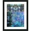 "Studio Works Modern ""Bustle - Blue"" by Zhee Singer Framed Fine Art Giclee Painting Print"