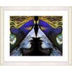 "Studio Works Modern ""Enigma - Blue"" by Mia Singer Framed Fine Art Giclee Print"