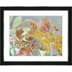 "Studio Works Modern ""Rococo Peacock - Orange"" by Zhee Singer Framed Fine Art Giclee Painting Print"