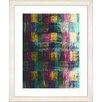 """Studio Works Modern """"Blue Dansing Bud - Purple"""" by Zhee Singer Framed Fine Art Giclee Print"""