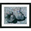 "Studio Works Modern ""Garlic - Blue"" by Zhee Singer Framed Fine Art Giclee Painting Print"