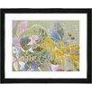 "Studio Works Modern ""Rococo Peacock - Rose"" by Zhee Singer Framed Fine Art Giclee Painting Print"