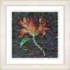 "Studio Works Modern ""Bliss Floral - Orange"" by Zhee Singer Framed Fine Art Giclee Painting Print"