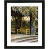 "Studio Works Modern ""Garden Bench"" by Mia Singer Framed Fine Art Giclee Photographic Print"