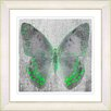 "Studio Works Modern ""Dusk Butterfly - Green"" by Zhee Singer Framed Fine Art Giclee Painting Print"