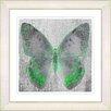 "<strong>""Dusk Butterfly - Green"" by Zhee Singer Framed Fine Art Giclee Print</strong> by Studio Works Modern"