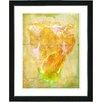 """Studio Works Modern """"Yellow Dansing Bud - Honey"""" by Zhee Singer Framed Fine Art Giclee Painting Print"""