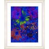 "<strong>""Blue Abstract Daisies - Green"" by Zhee Singer Framed Fine Art Gicl...</strong> by Studio Works Modern"