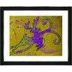 "Studio Works Modern ""Reindeer - Gold"" by Zhee Singer Framed Fine Art Giclee Painting Print"