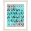 "Studio Works Modern ""Pastel Placidus - Turquoise"" by Zhee Singer Framed Fine Art Giclee Painting Print"