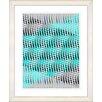 "Studio Works Modern ""Pastel Placidus - Turquoise"" by Zhee Singer Framed Fine Art Giclee Print"