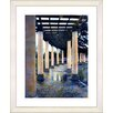 "Studio Works Modern ""Rainy Pillared Walkway"" by Mia Singer Framed Fine Art Giclee Photographic Painting Print"