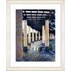 "Studio Works Modern ""Rainy Pillared Walkway"" by Mia Singer Framed Fine Art Giclee Print"