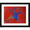 "Studio Works Modern ""Reindeer - Red"" by Zhee Singer Framed Fine Art Giclee Painting Print"