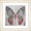 "Studio Works Modern ""Dusk Butterfly - Red"" by Zhee Singer Framed Fine Art Giclee Painting Print"