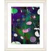 "Studio Works Modern ""Dark Plyos - Purple"" by Zhee Singer Framed Fine Art Giclee Painting Print"