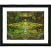 "Studio Works Modern ""Voice in Green"" by Zhee Singer Framed Fine Art Giclee Painting Print"