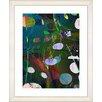 "Studio Works Modern ""Dark Plyos - Turquoise"" by Zhee Singer Framed Fine Art Giclee Painting Print"