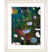 "Studio Works Modern ""Dark Plyos - Turquoise"" by Zhee Singer Framed Fine Art Giclee Print"