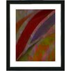 "Studio Works Modern ""Cinnabar - Red"" by Zhee Singer Framed Fine Art Giclee Painting Print"