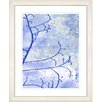 "Studio Works Modern ""Filigree Flower Branches - Blue"" by Zhee Singer Framed Fine Art Giclee Painting Print"