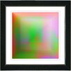 "Studio Works Modern ""Orange Colorfield Fingerprint"" by Zhee Singer Framed Fine Art Giclee Painting Print"
