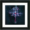 "Studio Works Modern ""Blue Chandelier"" by Zhee Singer Framed Graphic Art"