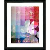 "Studio Works Modern ""Chelsea Flower"" by Zhee Singer Framed Fine Art Giclee Painting Print"