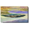 "Studio Works Modern ""Lagoon"" Gallery Wrapped by Zhee Singer Painting Print on Canvas"