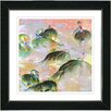 "Studio Works Modern ""Flamingo Morning Time"" by Zhee Singer Framed Fine Art Giclee Painting Print"