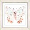 "Studio Works Modern ""White Butterfly"" by Zhee Singer Framed Fine Art Giclee Painting Print"