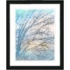 "Studio Works Modern ""Winter Sun"" by Zhee Singer Framed Fine Art Giclee Painting Print"