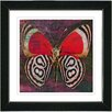 "Studio Works Modern ""Red Zebra Butterfly"" by Zhee Singer Framed Fine Art Giclee Painting Print"