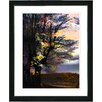 "Studio Works Modern ""Evening Foliage"" by Zhee Singer Framed Fine Art Giclee Painting Print"