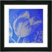 "Studio Works Modern ""Blue Tulip"" by Zhee Singer Framed Fine Art Giclee Painting Print"