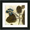 """Studio Works Modern """"Oyster Olive Berry Time"""" by Zhee Singer Framed Fine Art Giclee Painting Print"""