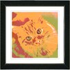 "Studio Works Modern ""Mr. Morris the Cat"" by Zhee Singer Framed Fine Art Giclee Painting Print"