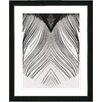 "Studio Works Modern ""White Feather"" by Zhee Singer Framed Fine Art Giclee Painting Print"