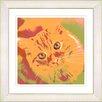 "Studio Works Modern ""Mr. Morris the Cat"" by Zhee Singer Framed Fine Art Giclee Painting Print"