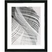 "Studio Works Modern ""Dancing Feathers"" by Zhee Singer Framed Fine Art Giclee Painting Print"