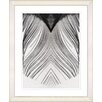 """Studio Works Modern """"White Feather"""" by Zhee Singer Framed Painting Print"""