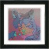 "Studio Works Modern ""Cinderella the Cat"" by Zhee Singer Framed Fine Art Giclee Painting Print"