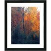 "Studio Works Modern ""Vermont Forest - Orange"" by Zhee Singer Framed Fine Art Giclee Painting Print"