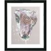 "Studio Works Modern ""Pastel Lilac Autumn Bud"" by Zhee Singer Framed Fine Art Giclee Painting Print"