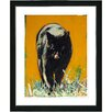 """Studio Works Modern """"Cleo the Cat"""" by Zhee Singer Framed Painting Print"""