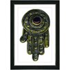 "Studio Works Modern ""Hamsa Hand of God"" by Zhee Singer Framed Fine Art Giclee Painting Print"